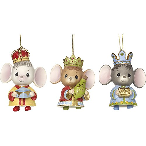 Precious Moments The Holidays Are Mice With You Set Of Three Bisque Porcelain Ornaments 171064