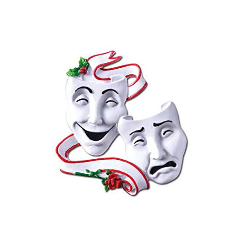 Polar X Theater Masks Personalized Christmas Ornament