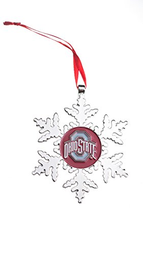 Collegiate Pulse Ohio State Buckeyes NCAA Snowflake Christmas Ornament