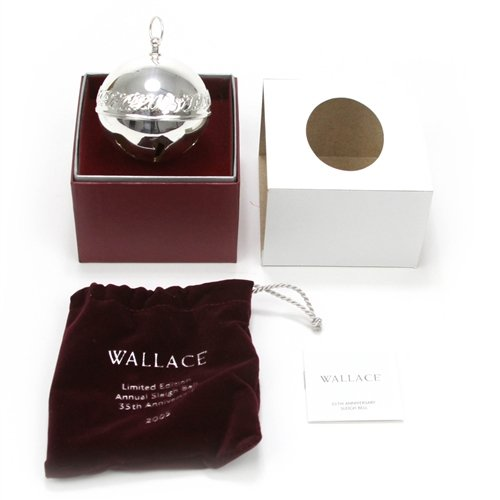 Wallace 2005 Sleigh Bell Silverplate Ornament by