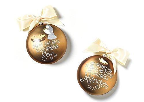 Coton Colors The Birth Of Christ Glass Ornament – Luke 2:7