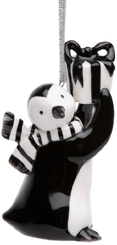 Appletree Design Penguin with Gift Ornament, 3-1/8-Inch Tall, Includes String for Hanging