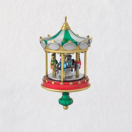 Hallmark Keepsake Mini Christmas Ornament 2018 Year Dated, Christmas Carousel Horse Miniature, 2.2″