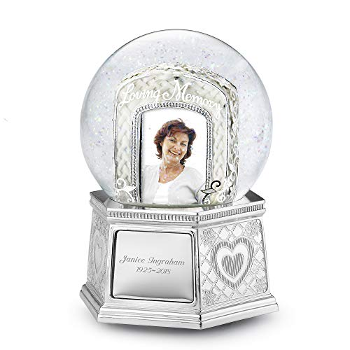 Things Remembered Personalized Loving Memory Musical Photo Snow Globe with Engraving Included