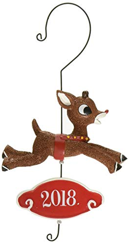 Department 56 Rudolph The Red-Nosed Reindeer Dated, 5.5″ Hanging Ornament, Multicolor