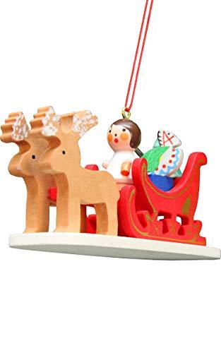 Alexander Taron 10-0637 Christian Ulbricht Ornament – Angel Sled – 4″ H x 2.25″ W x 1.5″ D Brown