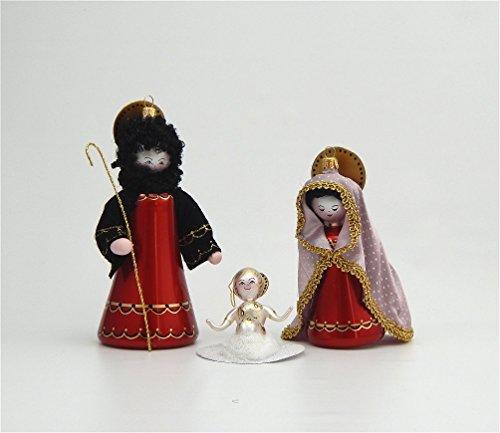 De Carlini Glass Ornament – Nativity Figures – Italian Ornament – Three Ornaments