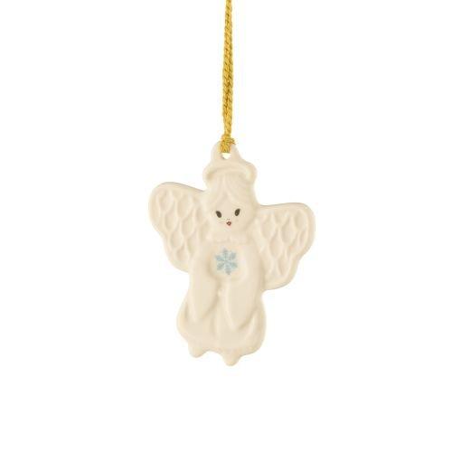 Belleek Angel With Snowflake Ornament