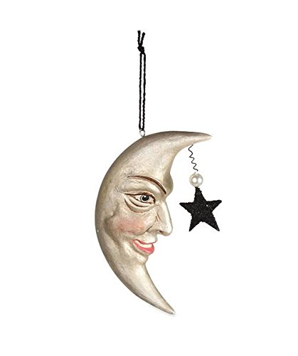 Bethany Lowe Halloween Man in The Moon Ornament