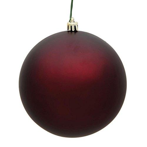 Vickerman 483114 – 4″ Burgundy Matte Ball Christmas Tree Ornament (6 pack) (N591065DMV)