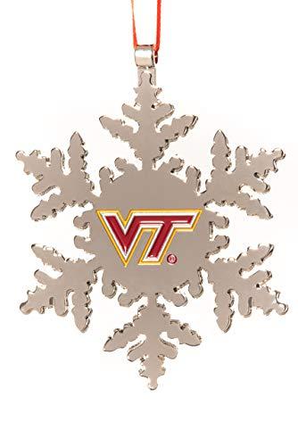Collegiate Pulse Virginia TECH Hokies NCAA Snowflake Christmas Ornament