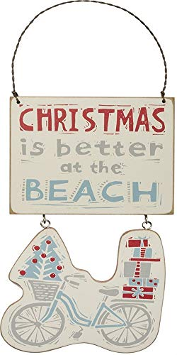 Primitives by Kathy Christmas is Better at The Beach Hanging Ornament