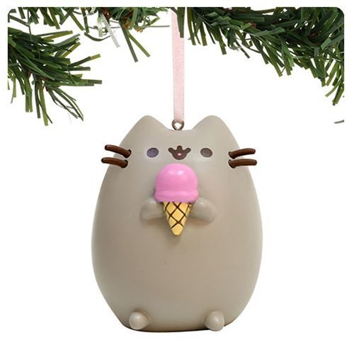 Department 56 Pusheen I Love Ice Cream Hanging Ornament, 2.5 inch