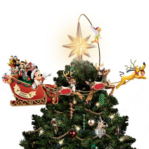 Bradford Exchange Disney's Timeless Holiday Treasures Tree Topper by The