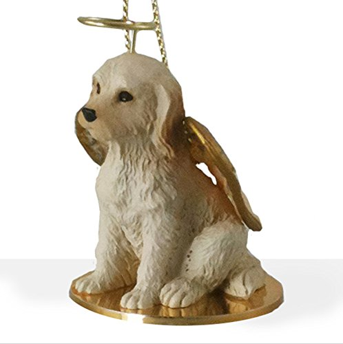 Conversation Concepts Labradoodle Ornament Angel Figurine Hand Painted Cream