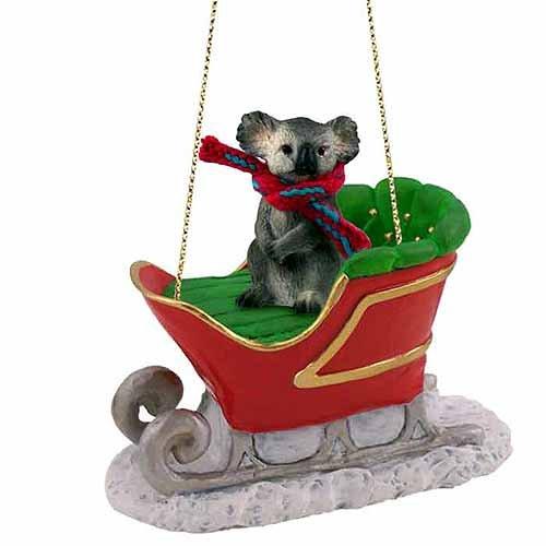 Conversation Concepts Koala Sleigh Ride Ornament
