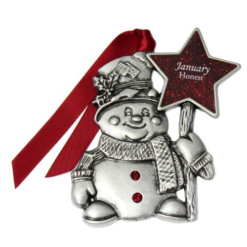 Gloria Duchin January Birthstone Snowman Ornament