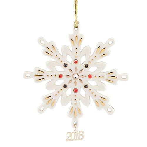 2018 Annual Gemmed Snowflake Ornament by Lenox
