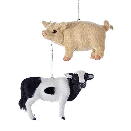 Kurt Adler Set of 2 Animal Ornaments, 2 Piece