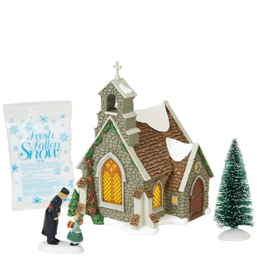 Department 56 Dickens Village Isle of Wight Chapel Lit Building and Accessories 8.25″ Multicolor