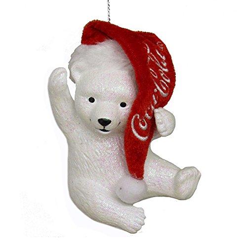 Coca-Cola Kurt Adler Polar Bear Cub with Hat Ornament CC1173