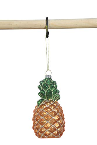 Creative Co-op Glass Pineapple Ornament, Gold
