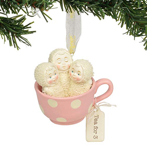 Department 56 Snowbabies Tea for Three Hanging Ornament, 2.5″, Multicolor