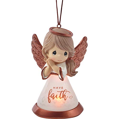 Precious Moments Faith Angel LED 191434 Ornament, One Size, Multi
