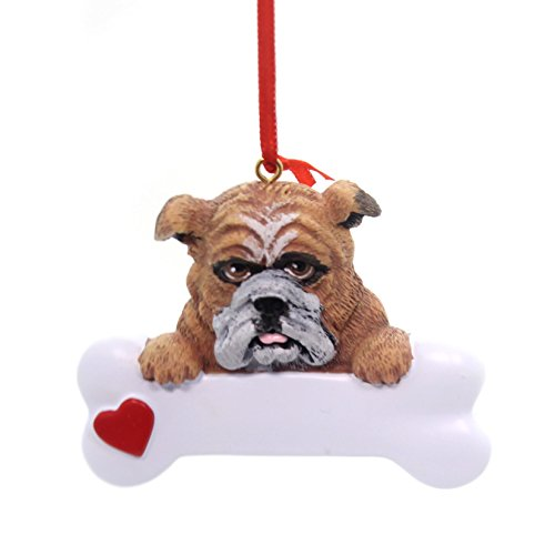 Rudolph and Me Bulldog Bone Ornament