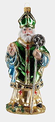 Pinnacle Peak Trading Company Saint Patrick Apostle of Ireland Polish Glass Christmas Tree Ornament Decoration