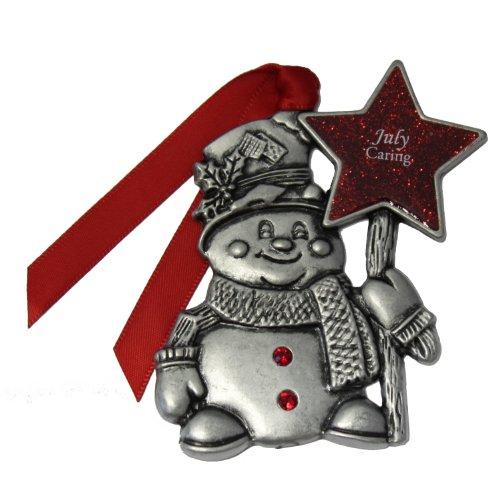 Gloria Duchin July Birthstone Snowman Ornament