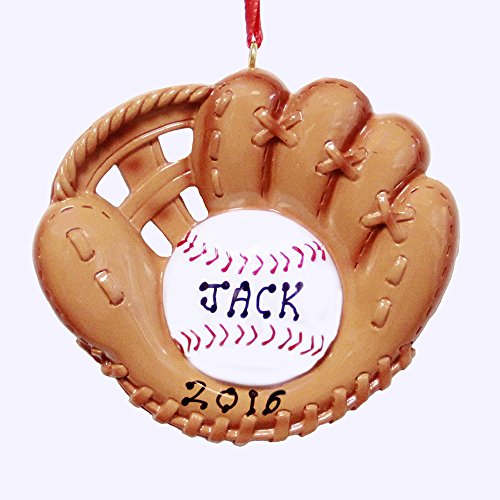 Rudolph and Me Personalized Baseball Glove Ornament – Free Customization