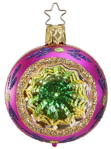 Inge-Glas Reflector Christmas Sparkles – Pink 20686R006F German Glass Ornament