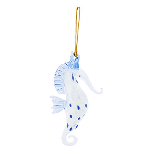 Beachcombers Coastal Life Decorative Ocean Ornament with S-Hook (Glowing Seahorse, 04026)