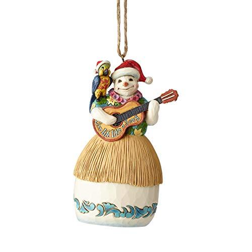 Enesco Margaritaville by Jim Shore Guitar Snowman Hanging Ornament, 4.5″, Multicolor