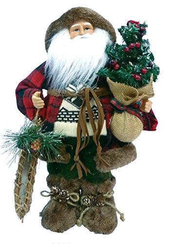 Santa's Workshop 8830 Woodsman with Canoe Figurine, 16″