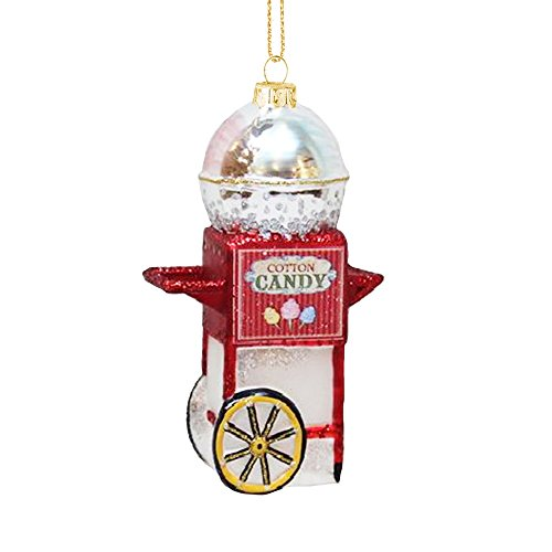 MIDWEST-CBK Cotton Candy Machine Cart Glass Christmas Ornament