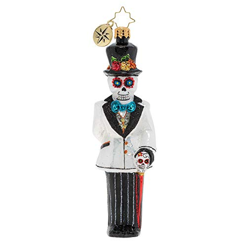 Christopher Radko Dia De Los Muertos Dapper Groom Christmas Ornament, Multicolor