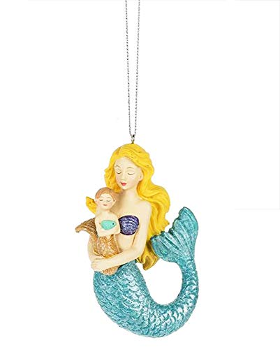 Midwest-CBK Mother and Child Mermaid Ornament – Resin 4″