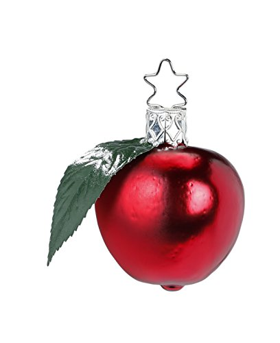 Inge Glas Mini Apple 1-278-15 German Blown Glass Christmas Ornament Gift Box