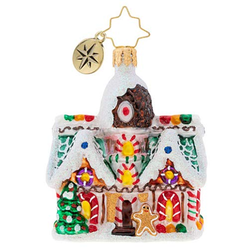 Christopher Radko Sweet Invitation Gem Christmas Ornament, White, Brown