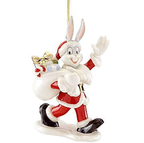 Lenox Looney Tunes Bugs Bunny Santa Ornament 4.5″