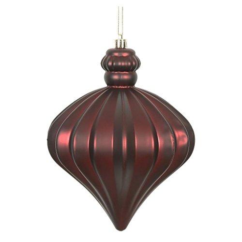 Vickerman 478639-6 Burgundy Matte Onion Drop Christmas Tree Ornament (4 pack) (N175865D)