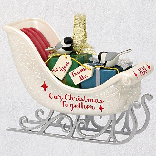 Hallmark Keepsake Christmas Ornament 2018 Year Dated, Our Christmas Together Sleigh