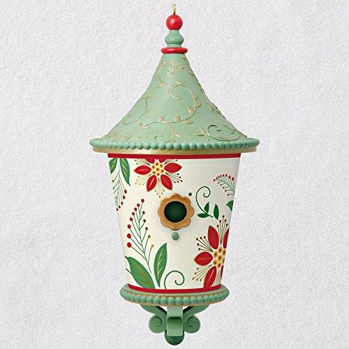 Hallmark Keepsake Christmas Ornament 2018 Year Dated, Poinsettia Beautiful Birdhouse