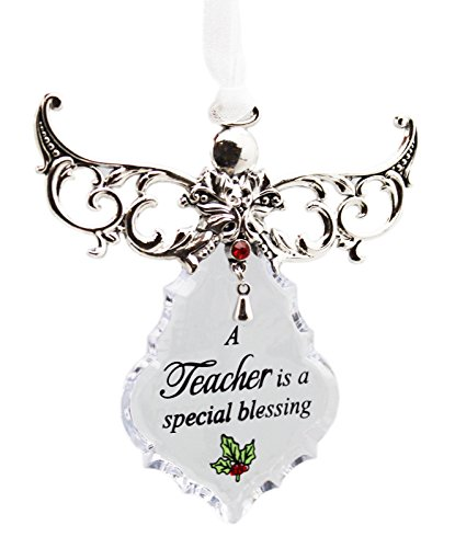 A Teacher is a Special Blessing Crystal Angel Ornament – By Ganz