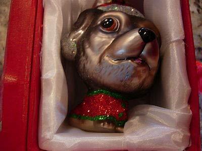 180 Degrees LH0001-K 4″ Min Pin Miniature Pinscher Puppy Dog Glass Ornament Red Gift Box