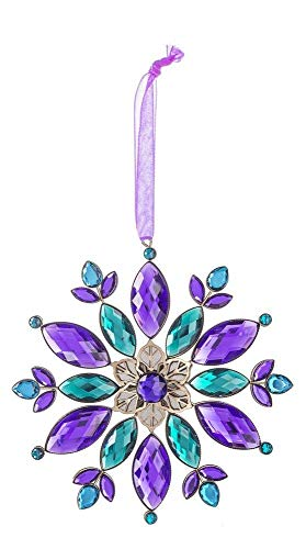 Ganz Crystal Expressions Acrylic Vivid Jewel Flower Ornament 6″ ACRY-474 (Purple)