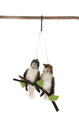 Creative Co-Op Wool Felt Birds on Branch Ornament