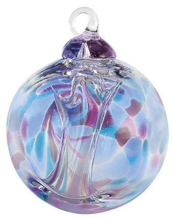 Glass Eye Studio Ornament – Spirit Ball – Violet